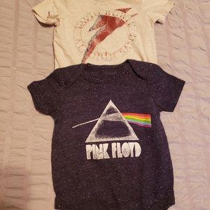David Bowie and Pink Floyd onsies